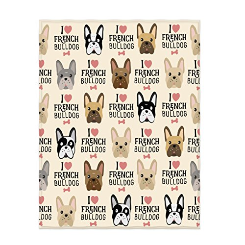 french bulldog fleece fabric - 1