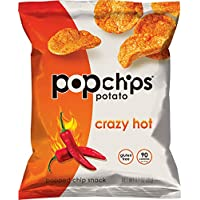 24-Pack Popchips Crazy Hot Potato Chips, 0.7 Ounce
