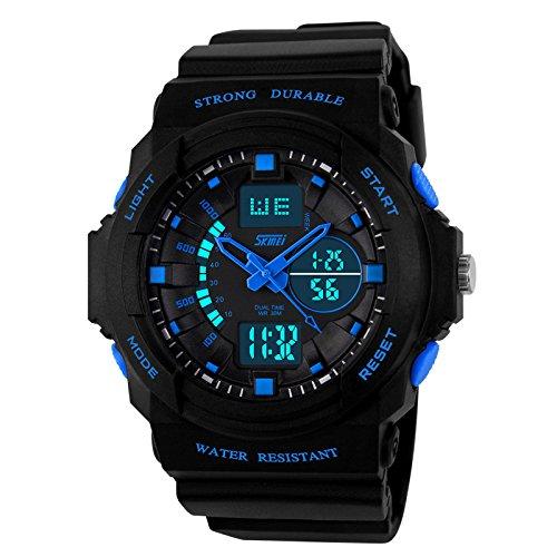 Skmei Day/Week Dual Time Display Analog Digital Mens Wrist Watch – GM5590BLU