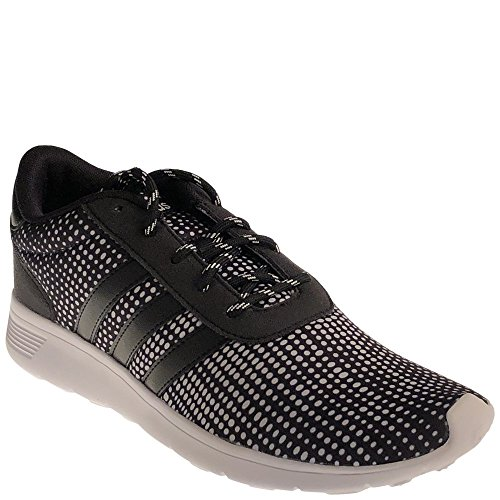 adidas Women's Lite Racer W Sneaker, Black/Black/White, 11 Medium US by adidas