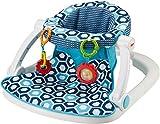 Fisher-Price Sit-Me-Up Floor Seat, Blue Geo [Amazon Exclusive]