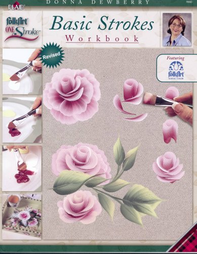 One Stroke Technique Book, 9880 Basic Strokes Workbook Plaid Inc