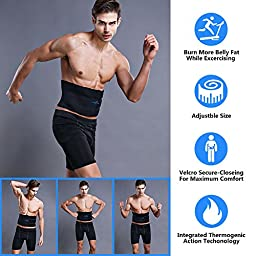Waist Trimmer Premium Weight Loss Sauna Belt,Belly Fat Burner,Neoprene Latex-Free Stomach AB Belt,Sweat Enhancer Exercise Adjustable Wrap for Men & Women (Medium: 22-33\