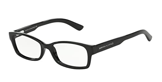 Amazon.com: Armani Exchange AX3017 Eyeglass Frames 8004-52 - Black ...