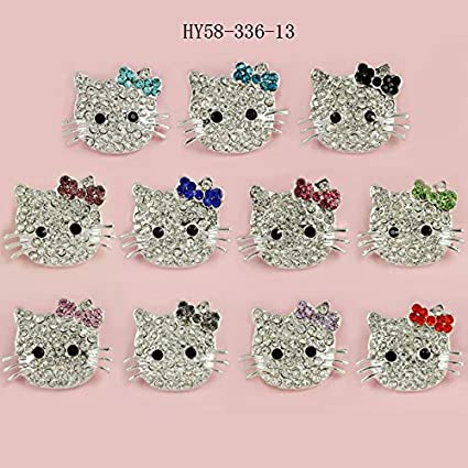 159b07815 Image Unavailable. Image not available for. Color: HYBEADS 6Pcs Random DIY  Kitty Cat Connector bead for Shamballa Jewelry Making Crystal Cat Beads  Charms