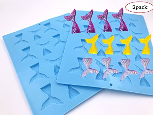 2-16 cavity (32 Total)Gummy Mermaid Tail Mold