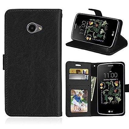 DIKAS Funda para LG K5 X220, Correa de Mano Carcasa PU Leather con, Soporte Plegable, Cierre Magnético, Ranuras para Tarjetas y Billetera, para LG K5 ...