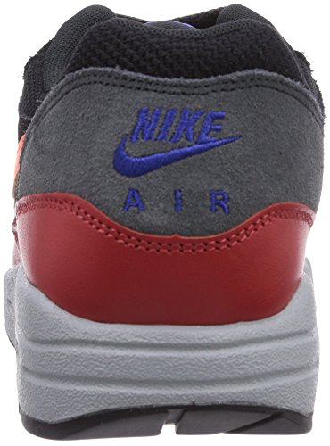 Nike Men's Air Max 1 Essential, BLACK/HYPER CRIMSON-RED CLAY, 6 M US
