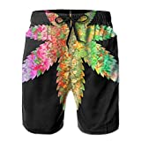 2018 pants Men's Psychedelic Marijuana Leaf Quick Dry Summer Beach Surfing Board Shorts Swim Trunks Cargo Shorts