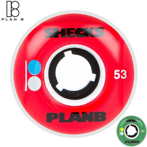 ダウンタウン背景ジェットPLAN-B ウィール プランビー スケートボード モデル:SHECKS [並行輸入品]