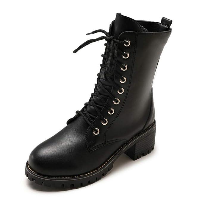 529fd7f3fd367 Amazon.com: DETAIWIN Women's Mid Calf Rain Boots Soft Lace Up Oxford ...