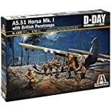 Italeri Models AS 51 Horsa MK.I with British Paratroops Airplane Model Building Kits