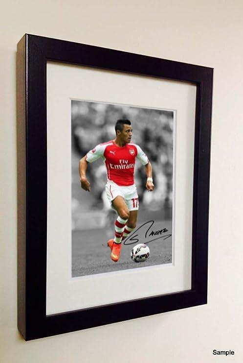 Firmado Arsenal Alexis Sánchez fotografía de fotos marco de fotos ...