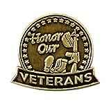 PinMart's Antique Bronze Honor Our Veterans Military Lapel Pin