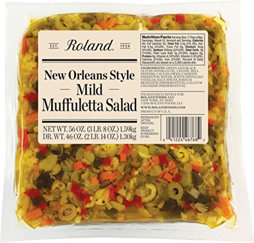 Roland Foods  New Orleans Style Muffuletta Salad, Mild, 56 - Salad New Orleans