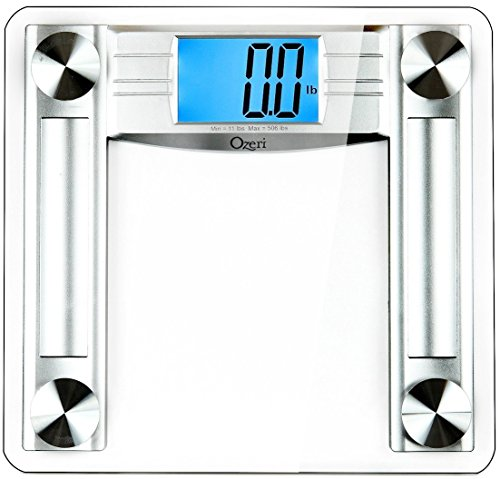 Ozeri ProMax 500 lbs (230 kg) Digital Bath Scale, with Body Tape Measure & Fat Caliper