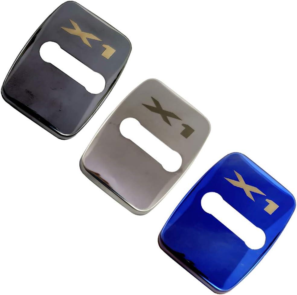 N//A 4Pcs Car Styling T/ürschlossabdeckung F/ür BMW X1 X3 X4 X5 X6 G01 F16 F25 F26 F48 E53 E84 E83 E71 E70 Door Lock Cover T/ürschloss-Schlie/ßkappe Edelstahl Auto Protection Zubeh/ör
