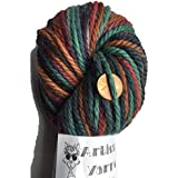 Artisan Yarns Hand Dyed Baby Alpaca Yarn, Hand Painted Royal, Heavy Worsted Weight, 100 Grams, 102 Yards, 100% Baby Alpaca