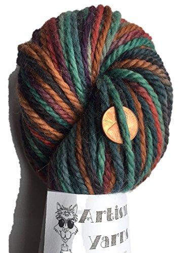 Teal Alpaca Yarn (Artisan Yarns Hand Dyed Baby Alpaca Yarn, Hand Painted Royal, Heavy Worsted Weight, 100 Grams, 102 Yards, 100% Baby Alpaca)