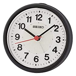 Seiko Beep Alarm Clock with Flashing Alarm - Black