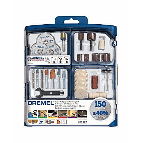 Dremel 2615S724JA 724 Coffret de 150 Accessoires s724, Gris