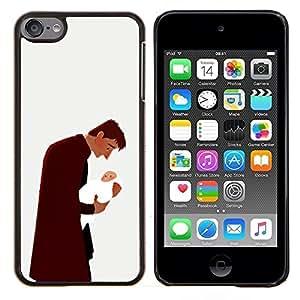 TECHCASE---Cubierta de la caja de protección para la piel dura ** Apple iPod Touch 6 6th Touch6 ** --Hombre del bebé del niño del padre de la familia del arte del amor