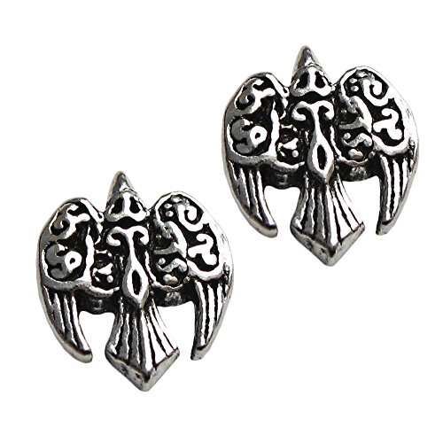 Sterling Silver Celtic Goddess Morrigan Raven Earring Studs