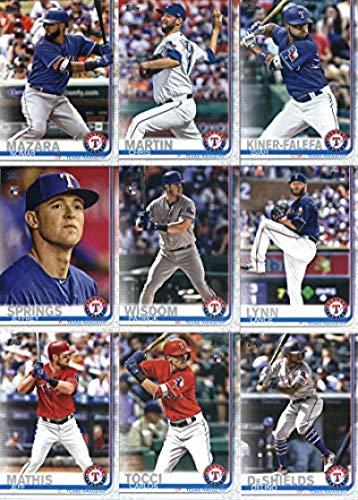 (2019 Topps Series 2 Baseball Texas Rangers Team Set of 11 Cards: Nomar Mazara(#354), Chris Martin(#357), Isiah Kiner-Falefa(#366), Globe Life Park in Arlington(#509), Rougned Odor(#511), Lance Lynn(#532), Patrick Wisdom(#578), Jeffrey Springs(#605), Delino DeShields(#644), Carlos Tocci(#649), Jeff Mathis(#681) )