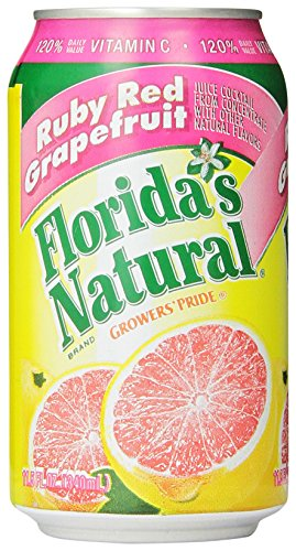 Florida's Natural Growers Pride Ruby Red Grapefruit Cocktail Juice, 11.5-Ounce Cans (Pack of 24)