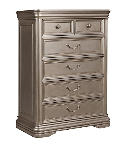 Ash Contemporary Dresser (Ashley Furniture Signature Design - Birlanny Chest of Drawers - Silver)