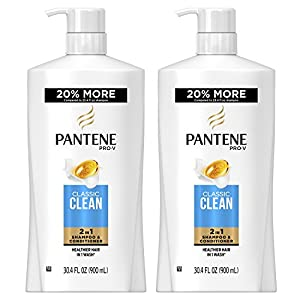 Pantene, Shampoo and Conditioner 2 in 1, Pro-V Classic Clean, 30.4 fl oz, Twin Pack