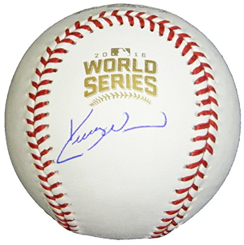 (Kerry Wood Signed Ball - Rawlings Official 2016 World Series - Autographed Baseballs)