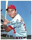Tony Perez Signed Autograph Cincinnati Reds 11x14 Photo HOF 2000 bat on shoulder - Certified Authentic