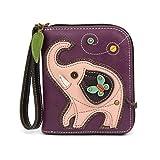 Chala Pal Zipper Wallet Collection (Elephant- Purple)