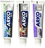 Arko Shaving Cream Variety Pack, Extra Sensitive/Extra Fresh/Extra Performance, 3 Count