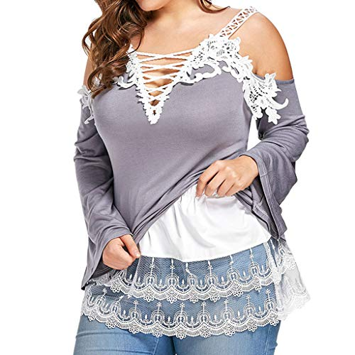Fashion Women Plus Size Layered Tiered Sheer Lace Trim Extender Half Slips Skirt ()