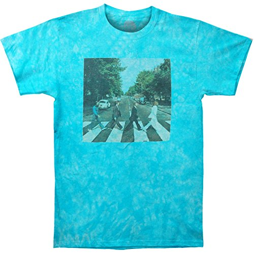 (Beatles Men's Abbey Road Tie Dye T-shirt Large Blue)