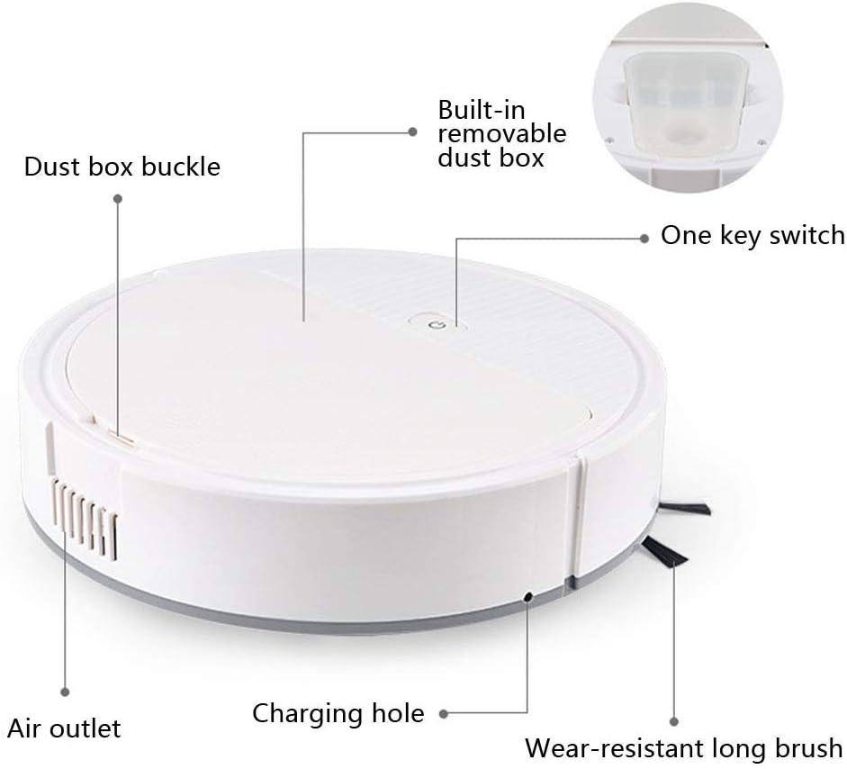 Type de charge intelligente balayage robot, et en faisant glisser le balayage triple nettoyant ggsm (Color : White) White
