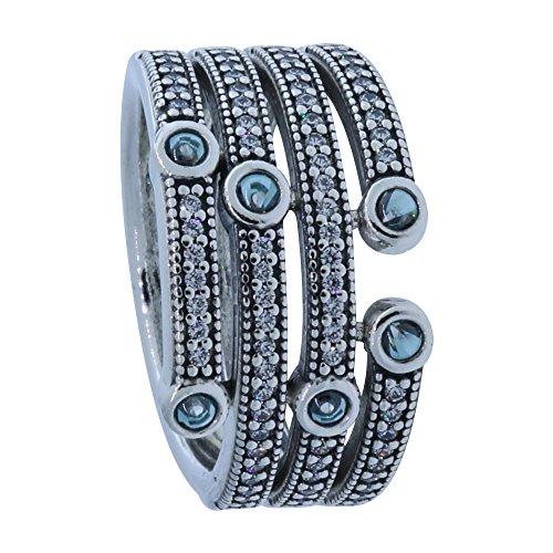 """Pandora Ring """"Schimmernder Ozean""""-54"""