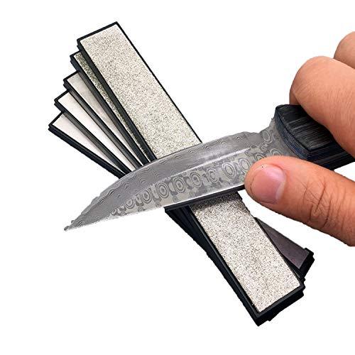 Kitchen Knife Edge Sharpening Diamond Whetstone Grinding Stone Sharpener 80-2000#,1000 Grit