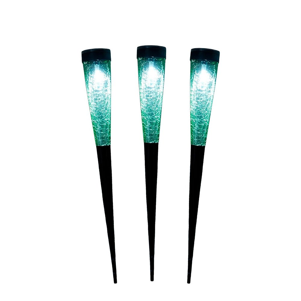 Achla Designs Solar Sparkle Cone Garden Path Lights-3 pack, Light Green