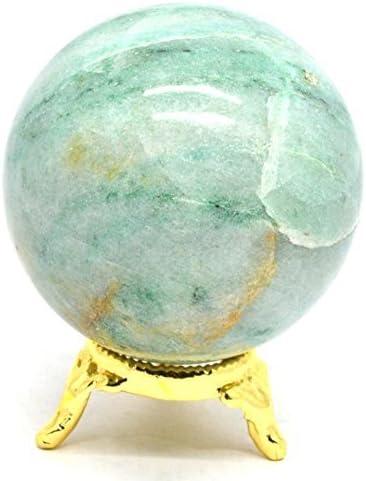 Kala Emporium - Bola de esferas metafísicas de piedras preciosas naturales de alta y fina, pulida para un mejor escritura, aventurina verde