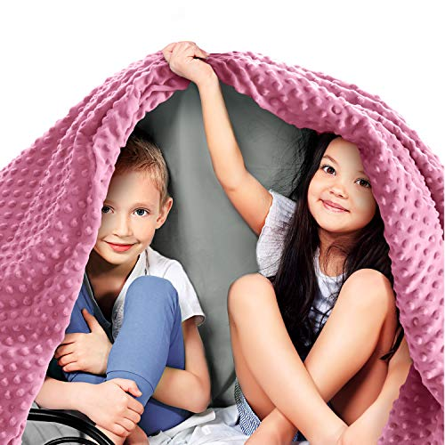 Quility Premium Kids Weighted Blanket & Removable Cover | 7 lbs | 41