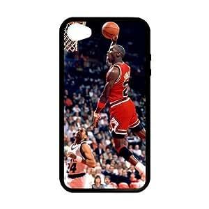 RAROFU Favorite basketball player Michael Jordan Custom Case for iPhone 4,4S (Laser Technology)
