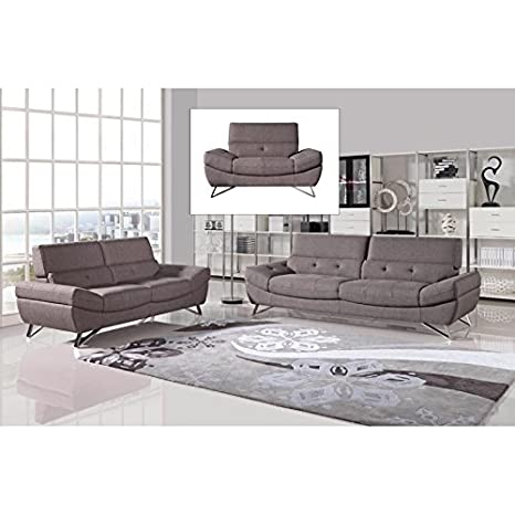 Amazon.com: VIG- Potash Divani Casa Modern Taupe Fabric Sofa ...