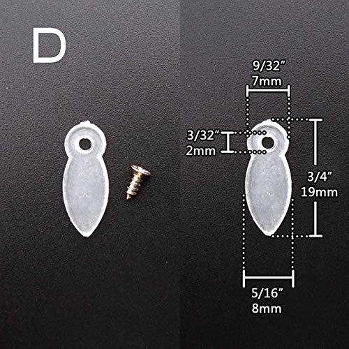 Zereff 50Pcs Golden Black Clear Metal Nylon Picture Photo Mirror Scrapbook Frame Backboard Turnbutton Turn Button Rotating Fixing Brad - (Color: D Clear Nylon)