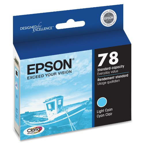 Epson Claria Hi-Definition 78 Standard-capacity Inkjet Cartridge-Light Cyan T078520