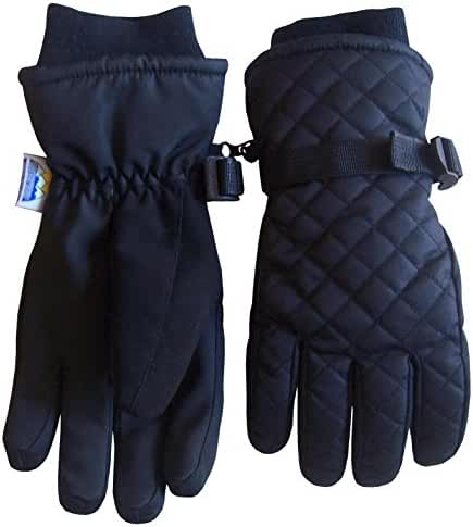 N'Ice Caps Kids Unisex Thinsulate and Waterproof Quilted Ski Gloves