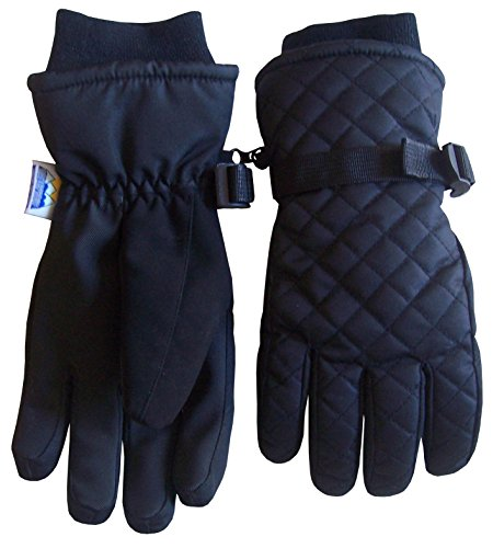 N'Ice Caps Girls Thinsulate and Waterproof Quilted Ski Snow Gloves