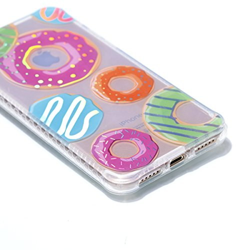 iPhone 7 Hülle, JIAXIUFEN Silikon Handy Hülle HandyHülle Hüllen Schutzhülle Case Cover für Apple iPhone 7 / iPhone 8 - Shiny Change Color Donuts Design